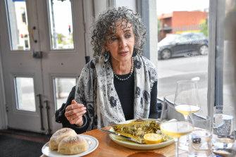 Schwartz at lunch.