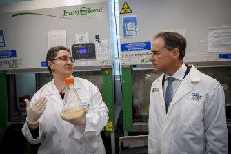 Health Minister Greg Hunt visited Monash University on Wednesday.