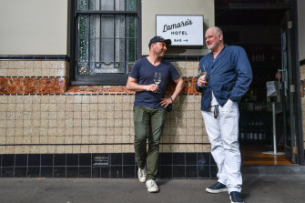 Lamaro's Hotel owner Paul Dimattina (left) with Geoff Lindsay, a part owner.