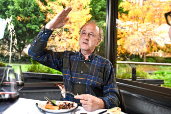 Sir Tim Smit, co-founder of the Eden Project, at the NGV's Garden Restaurant.