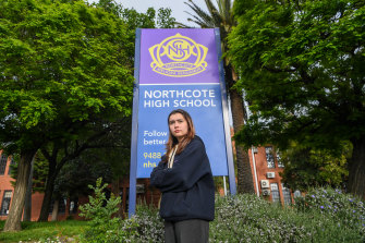 Northcote High School year 12 student Josie Armstrong fears that a stint in self-isolation could derail her exams.