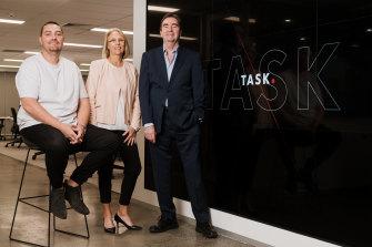 Task Software's family of co-founders Dean Houden, Jen Houden and Kym Houden with Daniel Houden stuck in lockdown in New Zealand.