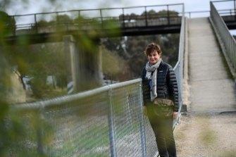 Heritage consultant Deborah Kemp is among those fighting plans for a taller rail bridge at Glenrowan.