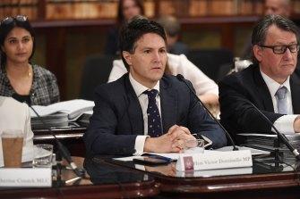 Victor Dominello MP at NSW budget estimates.