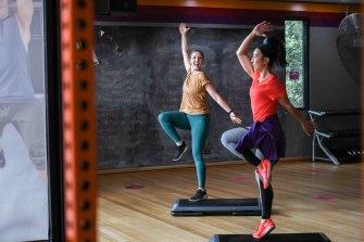 Step fitness instructor Alycia Mustafa with Tori Huynh.