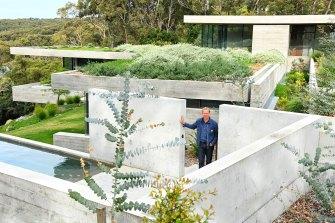 Architect James Stockwell in Bunkeren.