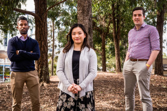 Worrying findings: AMA NSW council members Sanjay Hettige, Yvonne Nyugen and James Lawler.