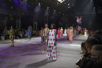 The First Nations Fashion and Design show at Australian Fashion Week.