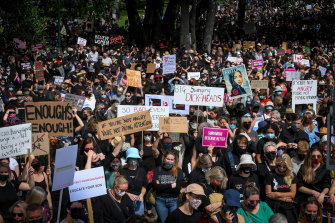 The Melbourne March 4 Justice on Monday heard speeches decrying tolerance of sexual assault of women.