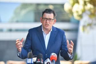 Victorian Premier Daniel Andrews said he did not want to enforce a hard border with South Australia.