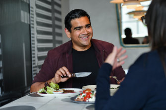 Dilruk Jayasinha with his two main courses at Frederic.