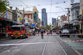 Chapel Street in Melbourne after Wednesday morning's earthquake.