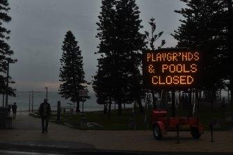 Shutdown scenes at Dee Why in Sydney.