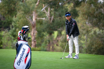 James Han took up golf during pandemic because he thought it would be a good way of networking with clients.