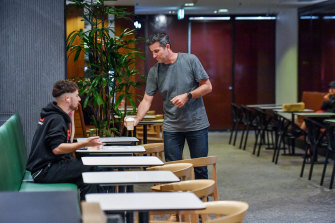EARL Canteen founder and director Simon O'Regan at Collins Place in the Melbourne CBD on Tuesday.