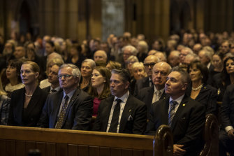 St Mary's Cathedral was packed for the State Funeral of Carla Zampatti.