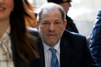 Harvey Weinstein arrives at state supreme court in Manhattan during his trial.