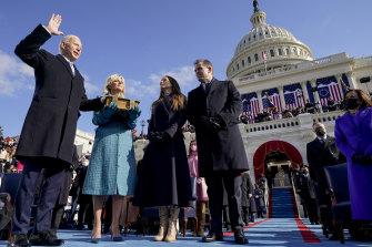 Joe Biden took the oath of office just before noon.