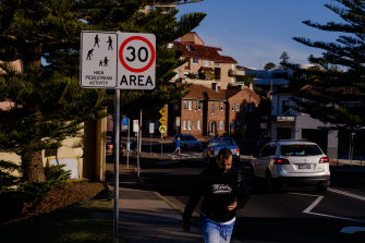 Manly has introduced 30km/h speed zones from Manly Wharf in the south, through the town centre, along the beachfront and up to the Queenscliff Bridge to protect pedestrians.