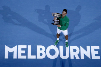 Novak Djokovic collected $4.12 million for his win at last year's Australian Open but will pocket less if he repeats the feat next month.
