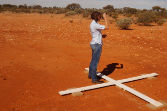 Lisa Harvey-Smith on the spot where the Square Kilometre Array will be built.