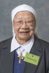 Sister Jacinta Fong works in a hospital's emergency department.