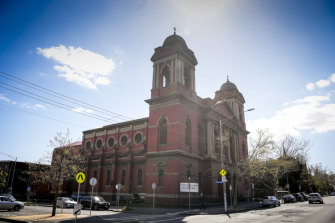The Catholic church's modern Corpus Christi seminary, in Carlton.