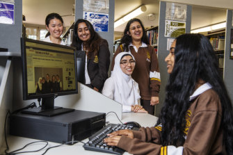 Sydney Girls' High School students dissect the first online HSC exam.