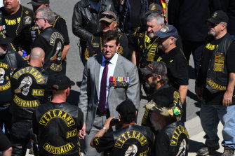 Ben Roberts-Smith at Remembrance Day at the Australian War Memorial last year.