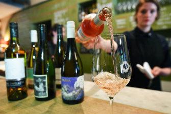 Booming: City Wine Shop's Isabelle Szyman pours a rose.