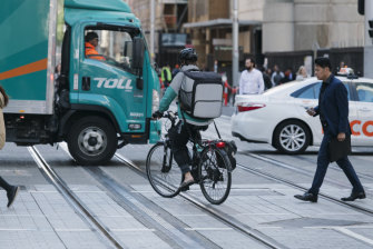 Cyclists will not be allowed to ride along the light rail line on George Street when it opens.