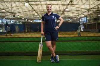 Rachel Trenaman is glad to have finished year 12 and can now concentrate full time on her cricket.