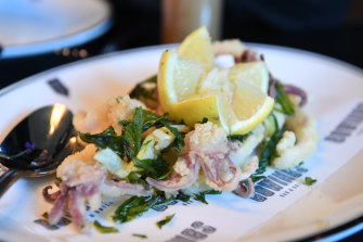 Hawkesbury calamari fritti at Gowings Bar and Grill.