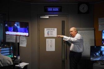 """We must be doing something right"": Talkback host Alan Jones prepares to enter his domain."