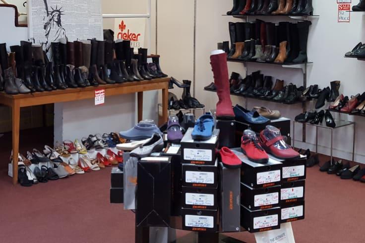 Inside Schumacher Shoes, a fixture in Flinders Lane since 1975.