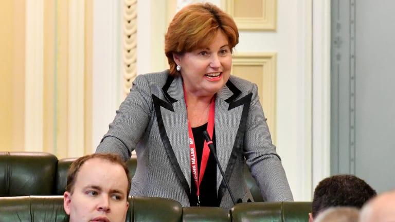 Former police minister Jo-Ann Miller addresses Parliament.