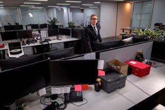 Matthew Kandelaars at the Property Council's empty offices.