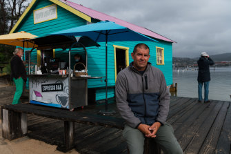 Merimbula business owner Scott Deveril, who runs a fishing charter and kayak hire service for tourists.