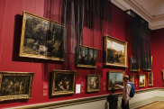 Joel Andrianomeariso has covered key works in the Art Gallery of NSW's Grand Courts.