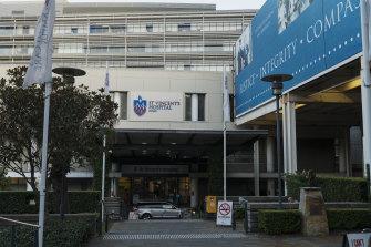 St Vincent's Hospital in Darlinghurst.