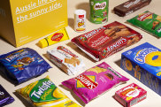 """One of the """"care-packs"""" created by New York-based Australians, Scott Cruttenden and Ben Le, who last year founded Dinkum. The company supplies familiar """"tastes of Australia"""" to homesick Australian expats."""