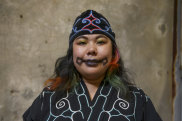 Mayunkiki feels beautiful and proud when wearing traditional Ainu face tattoos.
