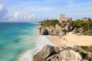 C69267 The Mayan Ruins at Tulum, Mexico Traveller ALAMY