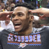 NBA star Russell Westbrook says fan provoked profane threat