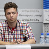 Jailed Belarus dissident displayed as 'hostage' at briefing