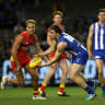 North Melbourne under the pump as another forward goes down