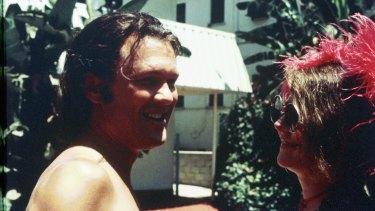 Janis Joplin with Kris Kristofferson in  Los Angeles, months before her death in October, 1970.