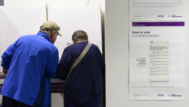 Early voting at the Central Station polling booth.