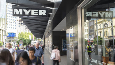 Myer closes all stores for four weeks.