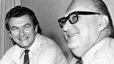 Bob Hawke won the faith not only of unions but of business leaders, including TNT's Sir Peter Abeles.